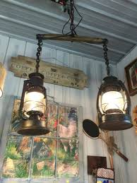 farmhouse lighting ideas. Suspended Track Lighting With Old Fashioned Lamps Farmhouse Ideas
