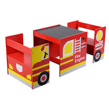 Kids Multifunctional Wooden Bus like Table and Chairs Set Baby