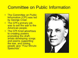 「the Committee on Public Information (CPI)」の画像検索結果