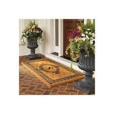 exterior entry rugs. black estate monogram coco mat - p, 30\ exterior entry rugs i