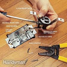 how to install a floor outlet the family handyman photo 7 wire the receptacle
