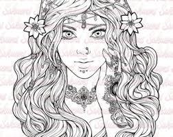 Small Picture Digital blank stamp Little cute girl lolita dress manga japan