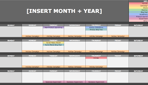 Schedule Monthly Template The Social Media Content Calendar Template Every Marketer