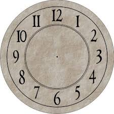 Clock Face Round With Antique Numbers Clock Face
