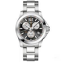 longines watches quality swiss watches ernest jones watches longines men s stainless steel bracelet watch product number 5011671