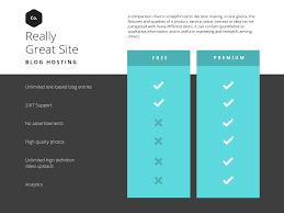 040 Teal Simple Comparison Chart Feature Template Excel