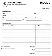 Plumbing Invoice 15 Best Free Plumbing Invoice Templates Images Free Stencils
