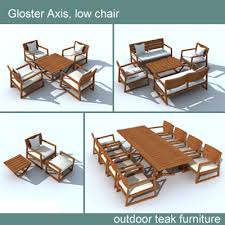 model gloster axis chair table
