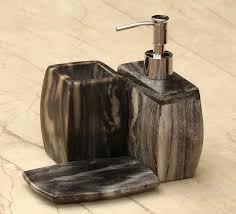 Handmade Bathroom Accessories Wholesale Marble Bathroom Toothbrush Toothpaste Holder In Grey