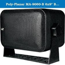 poly planar ma 9060 b 6x9 box speaker black 100w 200w pair poly planar ma 9060 b 6x9 box speaker black 100w