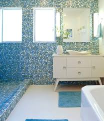 indoor mosaic tile bathroom wall glass opal blends