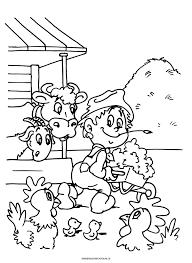 Kleurplaat Agrariër Hooiberg Beroepen