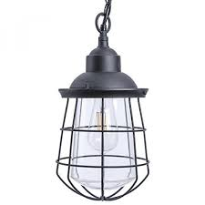 paradise by sterno home outdoor led metal pendant light 120v 540 lumens 6