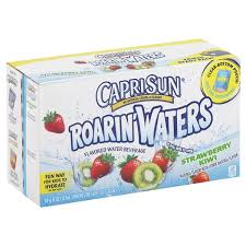 capri sun roarin waters flavored water beverage strawberry kiwi fridge ready pack