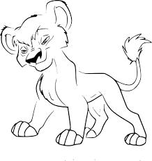 Coloriage Vitani Roi Lion 2 Imprimer