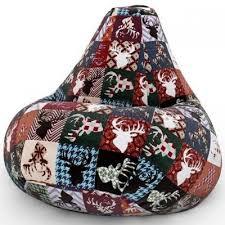 <b>Кресло Мешок</b> Груша с <b>Оленями</b> Дарк <b>DreamBag</b> - купить по цене ...