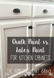 The Pros And Cons Of Chalk Paint And Latex Paint When Painting Kitchen  Cabinets. Very