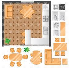 kitchen furniture plans. Room Designing - Kitchen Plan With Furniture Set Vector Image \u2013  Artwork Of Architecture, Click To Zoom Plans D