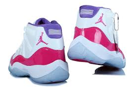 jordan shoes for girls pink and white. girls air jordan 11 xi retro white pink for sale-4 shoes and i