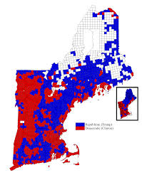 presidential elecion results the results of the 2016 presidential election by new england town