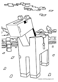 Small Picture Stampylongnose Minecraft Coloring Crokky Coloring Pages Avery