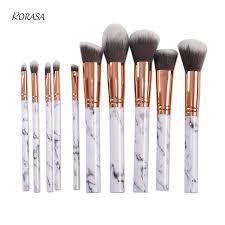 marble makeup brushes. 10pc marble pattern makeup brush set eyeshadow foundation powder marbling pincel maquiagem contour blending cosmetic brushes l