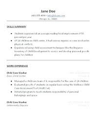 What To Put In A Job Resume Child Care Resume Sample Should You Put