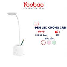 Đèn bàn học đọc sách YOOBAO E3 Ánh sáng chống cận 3 chế độ sáng Điều khiển  cảm ứng Tích hợp pin sạc tích điện Hàng chính - Đèn bàn Thương hiệu