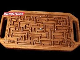 Wooden Maze Game With Ball Bearing Cool Wooden Game Maze Puzzle With Steel Ball Bearing CNC Project Using