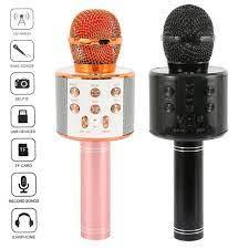 K şarkı Bluetooth kablosuz mikrofon hoparlör profesyonel el karaoke mikrofon  müzik çalar şarkı kaydedici KTV mikrofon|Microphones