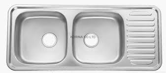 stainless steel kitchen sink double bowls single drain isd1100 1