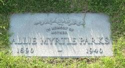 Allie Myrtle Lowry Parks (1890-1940) - Find A Grave Memorial