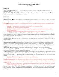 Civil Procedure Rules Chart Civil Procedure Cheat Sheet