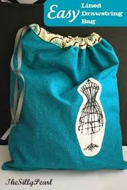 easy lined drawstring bag free sewing tutorial