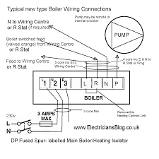 modern central heating boiler wiring connection diagram