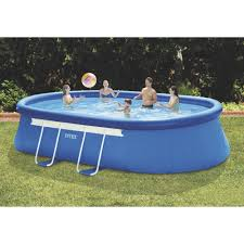 Intex Metal Oval Frame Above Ground Swimming Pool 18ft x 10ft x