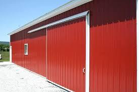 pole barn slider door work garage plans free