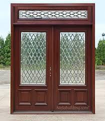 double doors transom cau glass exterior wooden uk rectangular