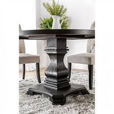 nerissa antique black round dining table