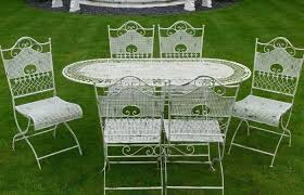 White wrought iron garden furniture Patio Modern Patio And Furniture Medium Size White Metal Garden Chairs Unbelievable Shabby Chic Wrought Iron For Craftycow Cast Iron Outdoor Furniture White Metal Garden Table And Chairs