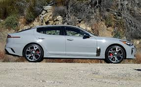2018 kia gt. beautiful 2018 2018 kia stinger gt in gray paint side view with kia gt