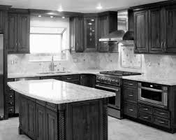 kitchen ideas black cabinets. Small Kitchen Design Ideas With White Cabinetry Dark Wooden Cabinet Island Granite Top And Subway Tiles Black Cabinets D
