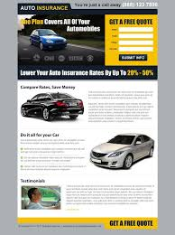 one plan for all your automobiles free quote clean and converting landing page