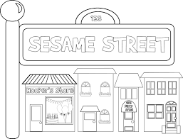 Small Picture Sesame Street Coloring Pages Birthday Coloring Coloring Pages