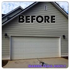 so i made some tea and supervised as my wonderful husband fancified our garage door an hour later we had the finished