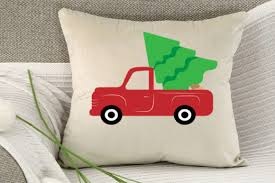 Apparently, a dry christmas tree can pose a serious fire hazard. Christmas Tree Red Truck Svg Christmas Graphic By Lillyrosy Creative Fabrica