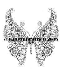 Tangleflies Coloring Pages Pdf 6 Butterflies To Pri