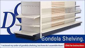 for gondola shelving