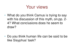 camus the myth of sisyphus  the