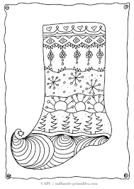 Small Picture Plain Christmas Stocking Coloring Page Virtrencom